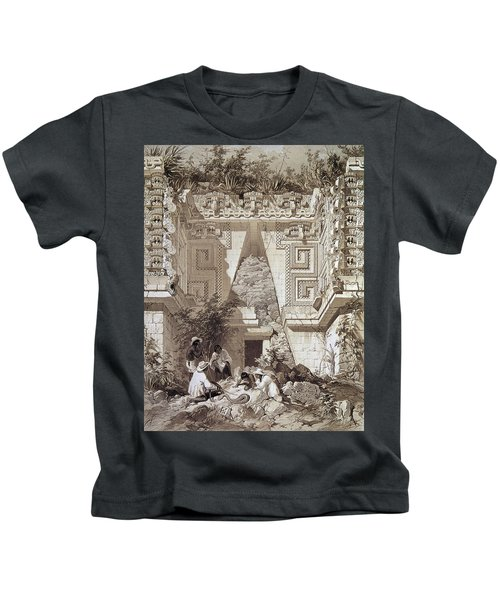 Mexico Uxmal Ruins, C1844 Kids T-Shirt