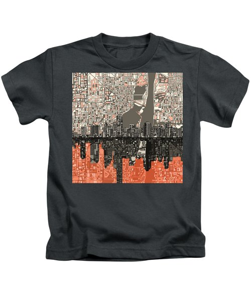 Miami Skyline Abstract 2 Kids T-Shirt