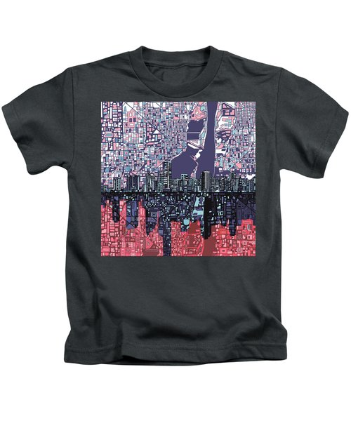 Miami Skyline Abstract Kids T-Shirt