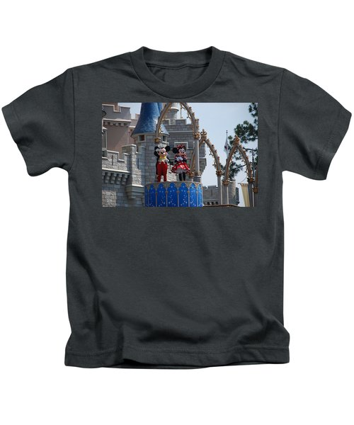 Mickey And Minnie In Living Color Kids T-Shirt