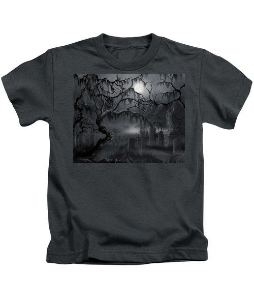 Midnight In The Graveyard  Kids T-Shirt