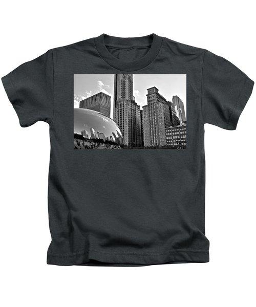 Millennium Park Black And White Kids T-Shirt