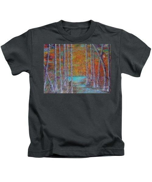 Minnesota Sunset Kids T-Shirt