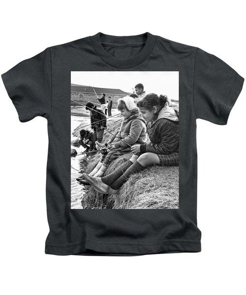 Mixed Ethnic Children Fishing Kids T-Shirt