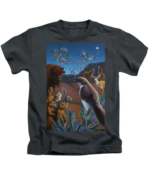 Moonlight Cantata Kids T-Shirt by James W Johnson