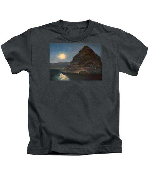 Moonlight On Pyramid Lake Kids T-Shirt