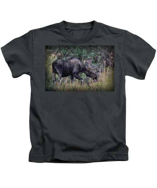Moose In The Meadow Kids T-Shirt