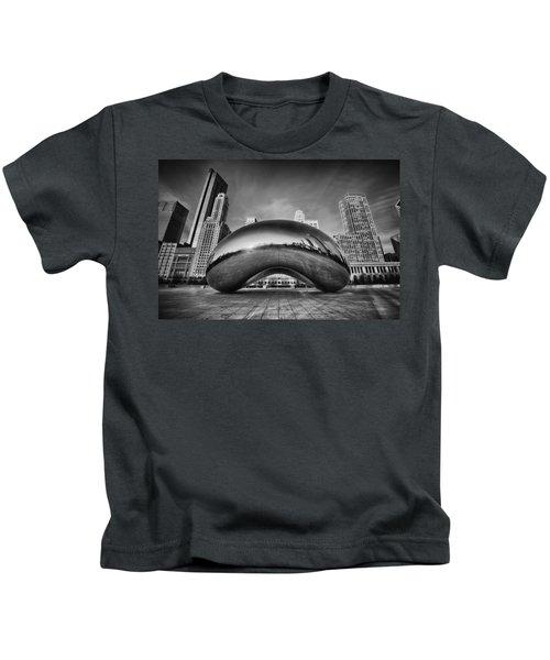 Morning Bean In Black And White Kids T-Shirt