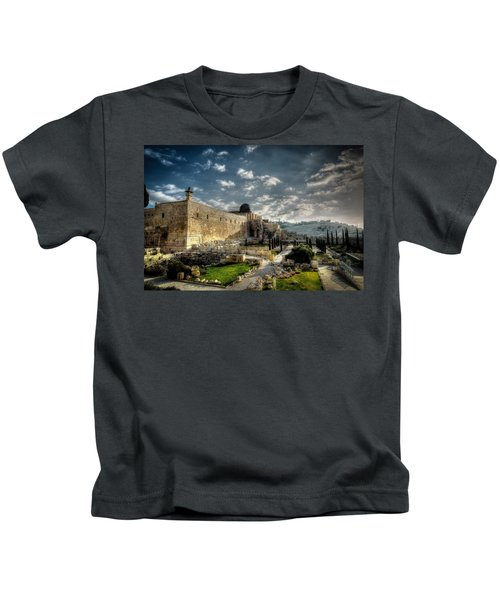 Morning In Jerusalem Hdr Kids T-Shirt