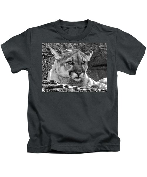 Mountain Lion Bergen County Zoo Kids T-Shirt