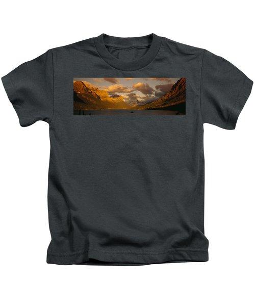 Mountains Surrounding A Lake, St. Mary Kids T-Shirt