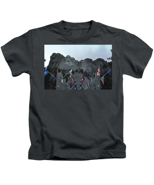 Mt. Rushmore In The Evening Kids T-Shirt
