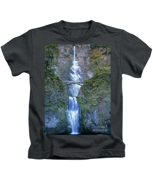 Multnomah Falls Columbia River Gorge Kids T-Shirt