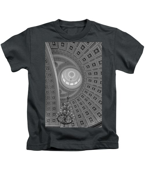 National Statuary Rotunda Bw Kids T-Shirt