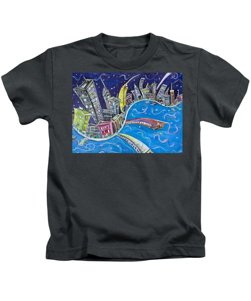 New York City Nights Kids T-Shirt by Jason Gluskin