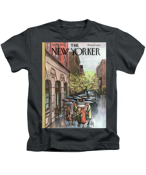 New Yorker April 21st, 1951 Kids T-Shirt