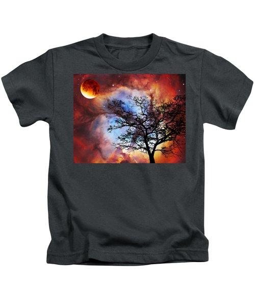 Night Sky Landscape Art By Sharon Cummings Kids T-Shirt