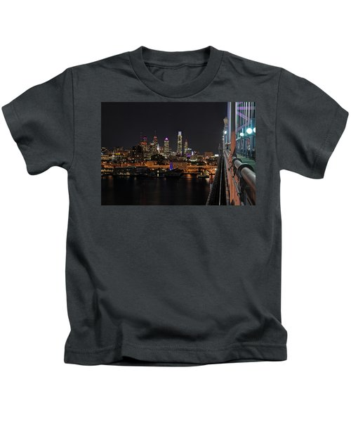 Nighttime Philly From The Ben Franklin Kids T-Shirt