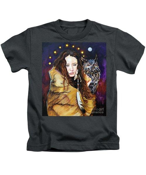 Nine Stars Woman / Owl Medicine Kids T-Shirt