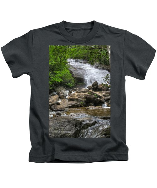 North Carolina Waterfall Kids T-Shirt