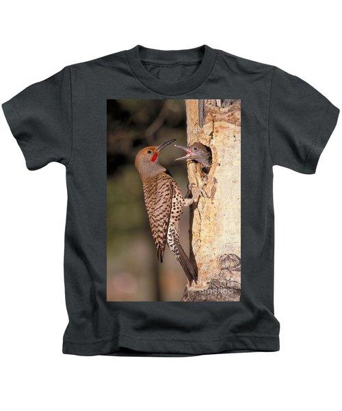 Northern Flicker At Nest Kids T-Shirt
