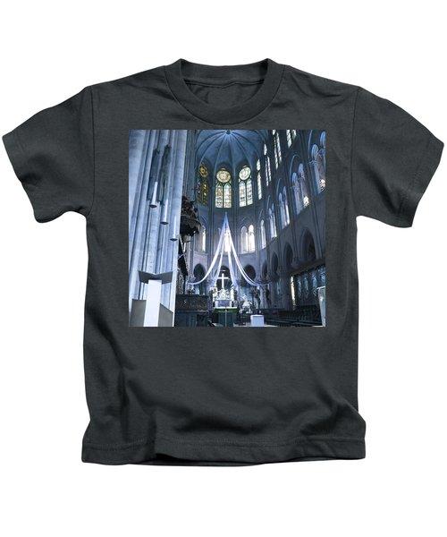 Notre Dame Altar Teal Paris France Kids T-Shirt