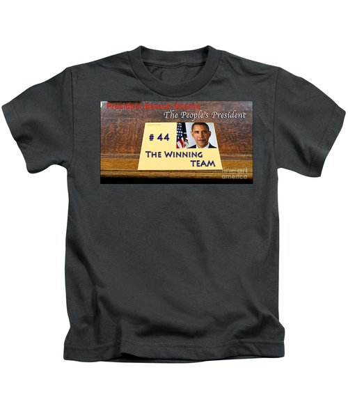 Number 44 - The Winning Team Kids T-Shirt by Terry Wallace