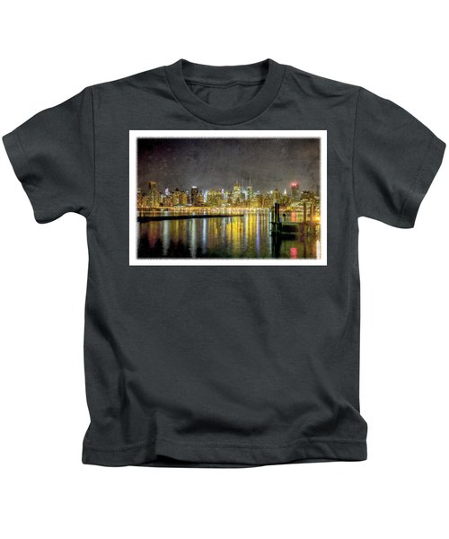 Nyc At Night Kids T-Shirt