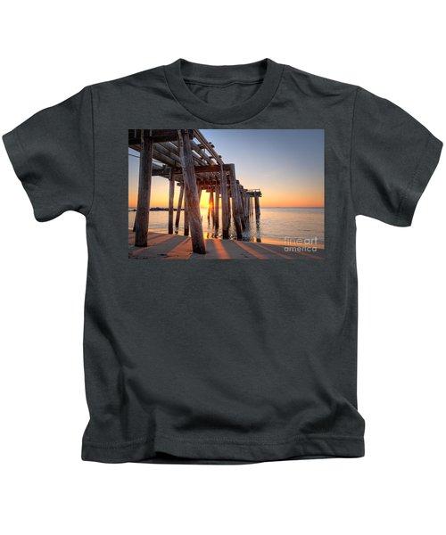 Ocean Grove Pier Sunrise Kids T-Shirt