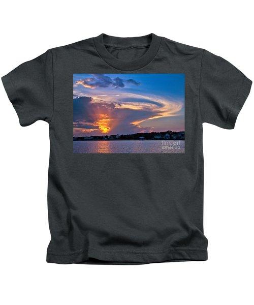 Ocean Isle Sunset Kids T-Shirt