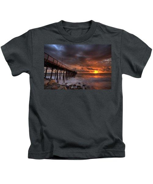 Oceanside Pier Perfect Sunset Kids T-Shirt