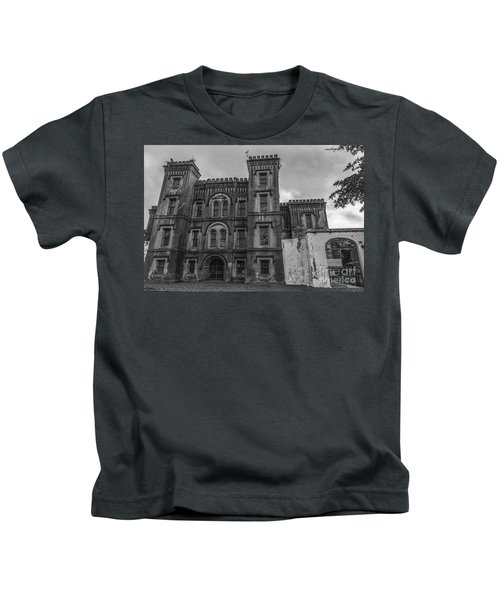 Old City Jail In Black And White Kids T-Shirt