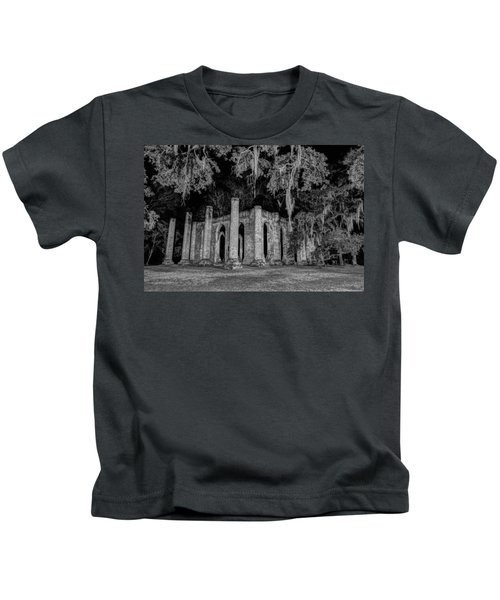 Old Sheldon Church At Night Kids T-Shirt