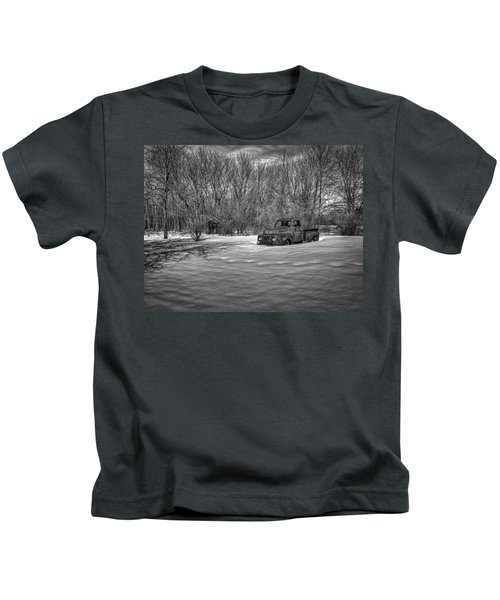 Old Timer In The Snow Kids T-Shirt