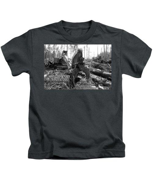 Ominous Looking Log Moving Crane Kids T-Shirt