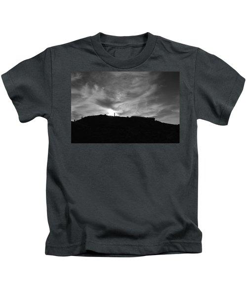 Ominous Sky Over Mt. Washington Kids T-Shirt