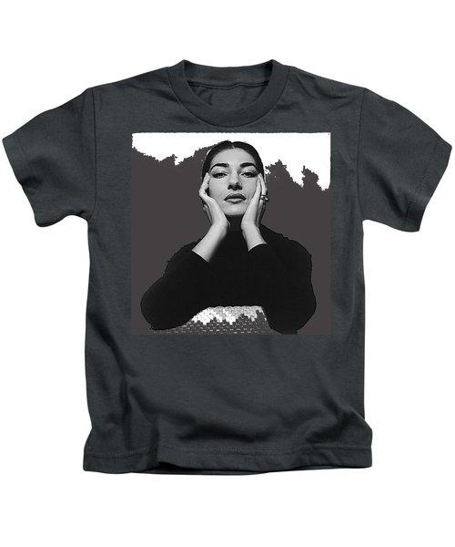 Opera Singer Maria Callas Cecil Beaton Photo No Date-2010 Kids T-Shirt