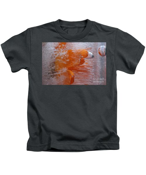 Orange Flower Kids T-Shirt