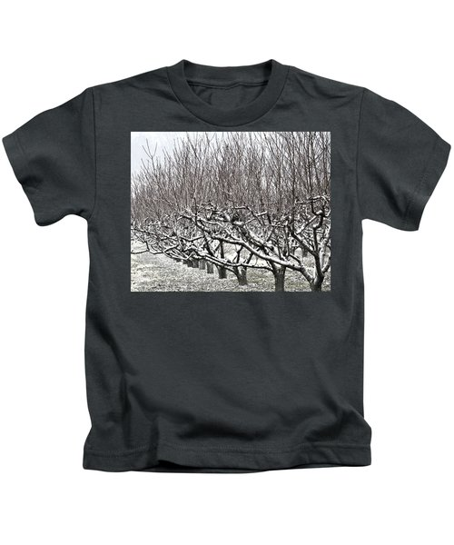 Orchard In Winter Kids T-Shirt