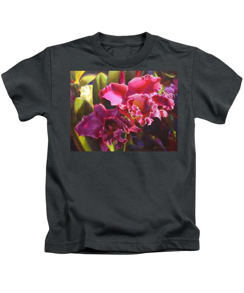 Orchids In Magenta Kids T-Shirt