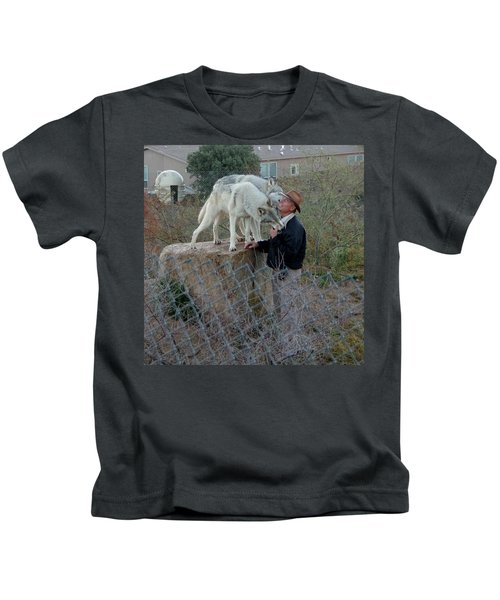 Out Of Africa  Friendly Wolves Kids T-Shirt