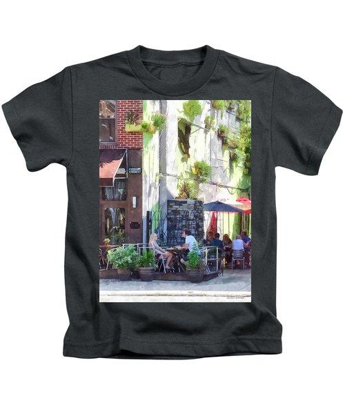 Outdoor Cafe Philadelphia Pa Kids T-Shirt