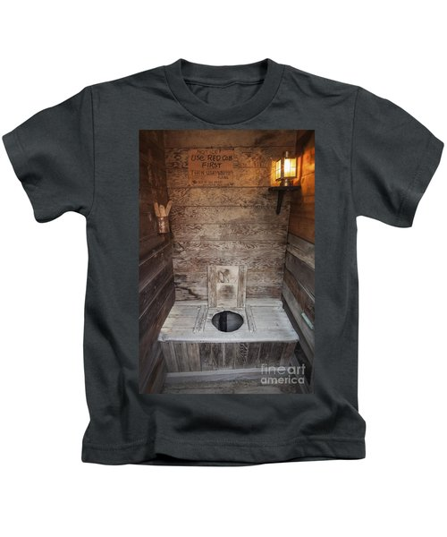 Outhouse Interior Kids T-Shirt