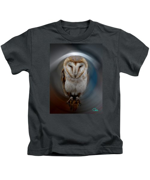 Kids T-Shirt featuring the photograph Owl Alba  Spain  by Colette V Hera  Guggenheim