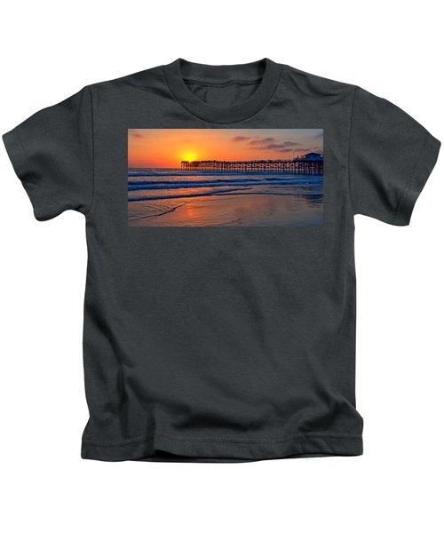 Pacific Beach Pier - Ex Lrg - Widescreen Kids T-Shirt