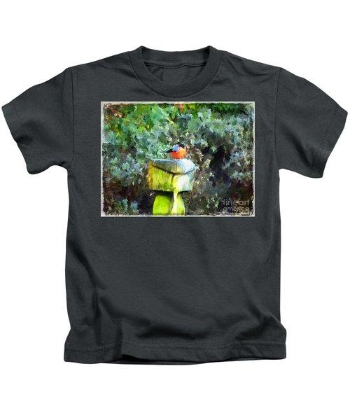 Painted Bullfinch S1 Kids T-Shirt