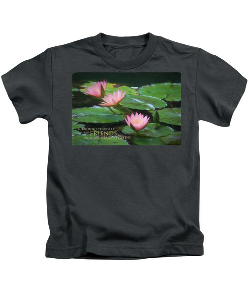 Painted Lilies With Message Kids T-Shirt