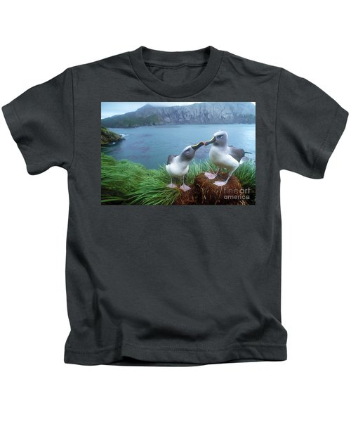 Pair Of Grey-headed Albatross Kids T-Shirt