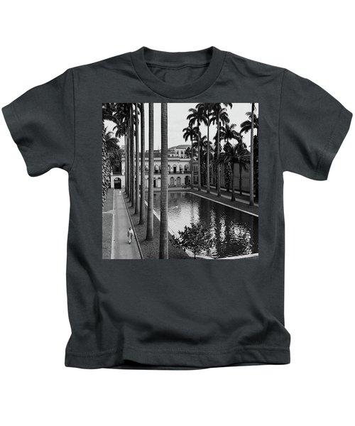 Palm Trees Bordering A Pool Kids T-Shirt