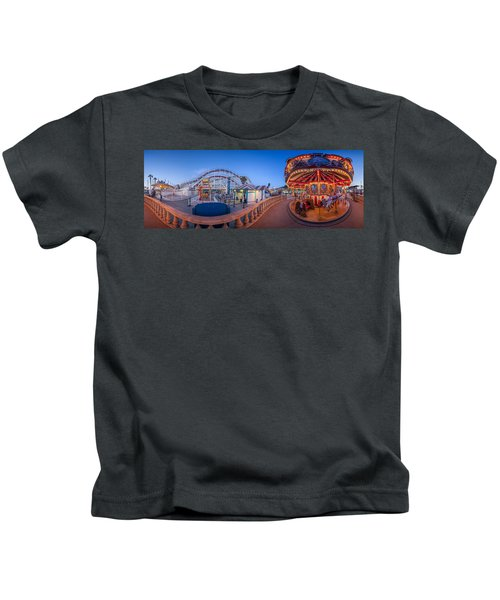 Panorama Giant Dipper Goes 360 Round And Round Kids T-Shirt